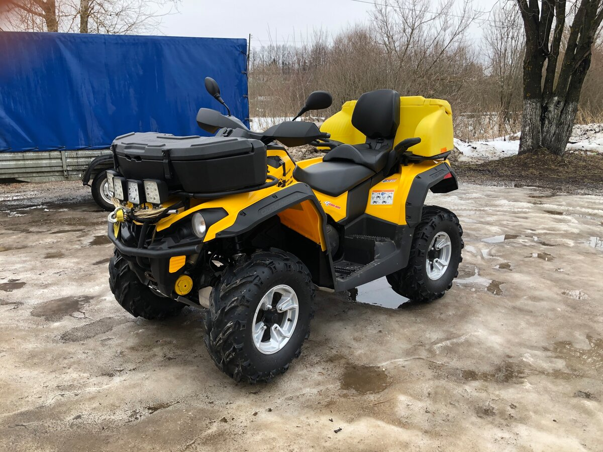 2015 BRP Can-Am Outlander L 500 (MAX), жёлтый, 910000 рублей