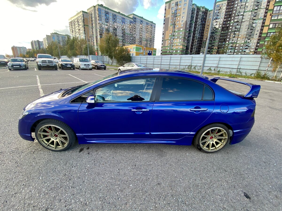 2006 Honda Civic  VIII, синий - вид 6