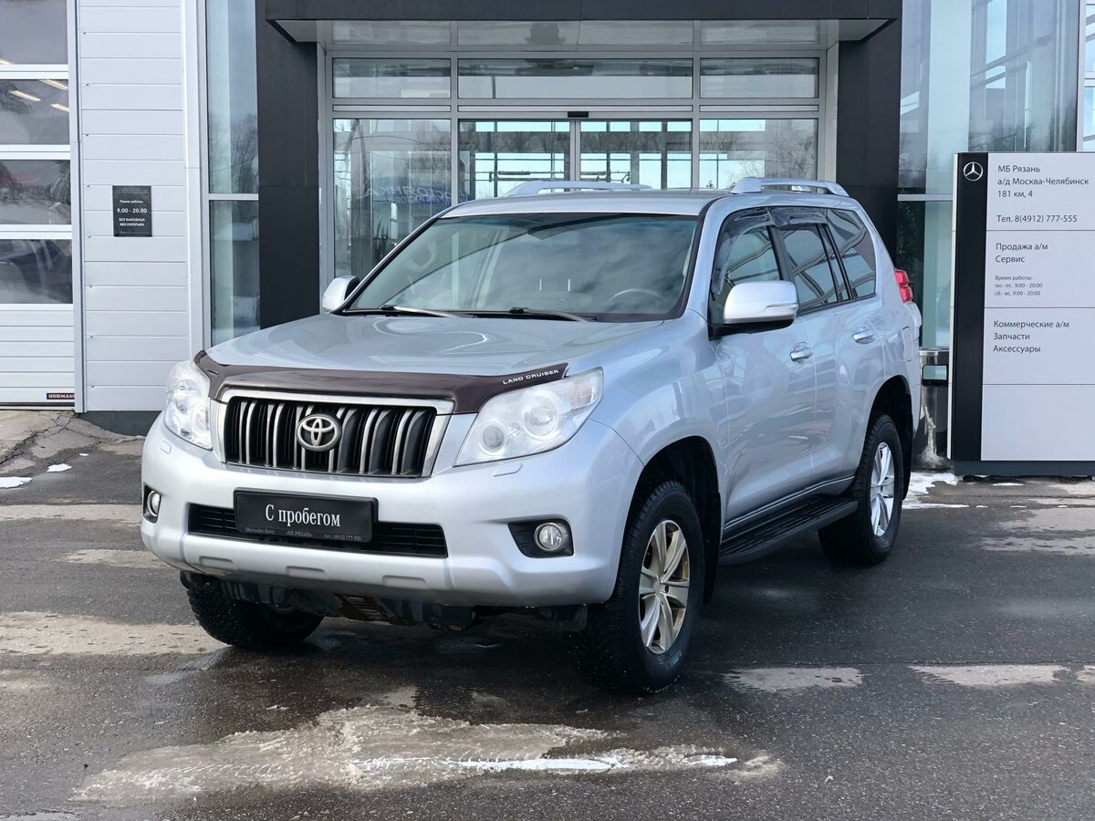2013 Toyota Land Cruiser Prado  150 Series, серебристый