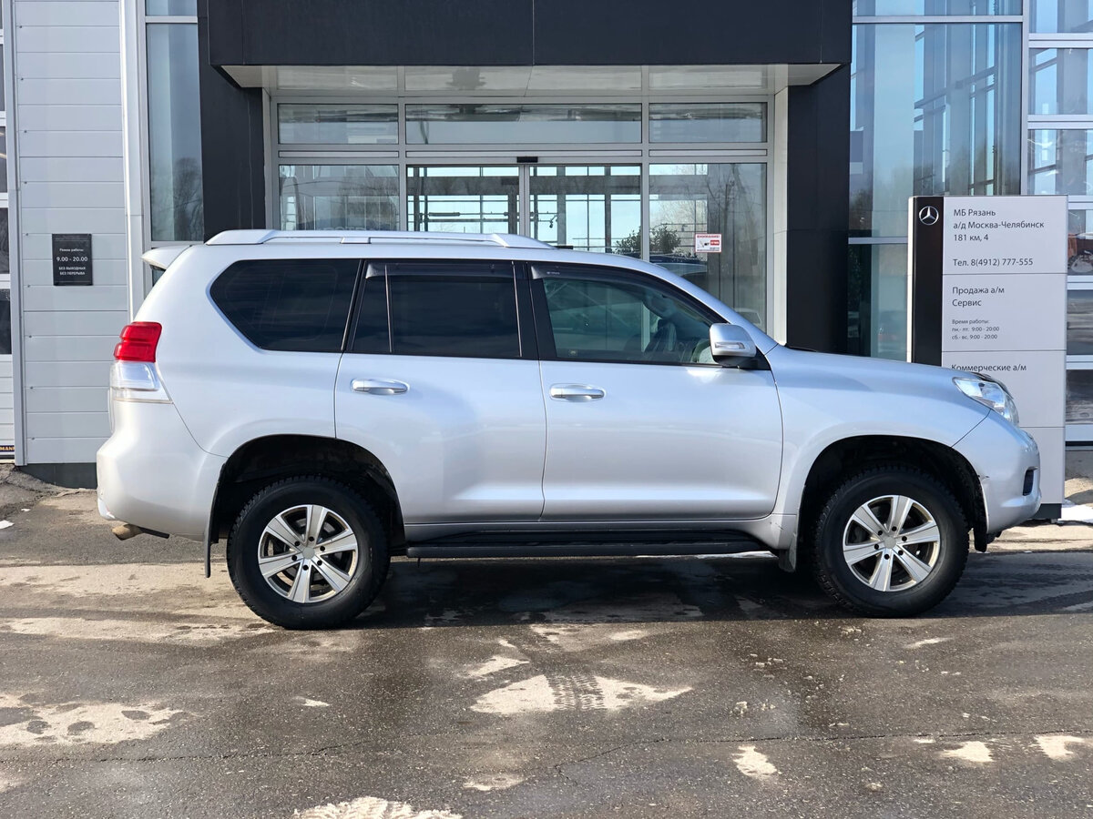 2013 Toyota Land Cruiser Prado  150 Series, серебристый - вид 4