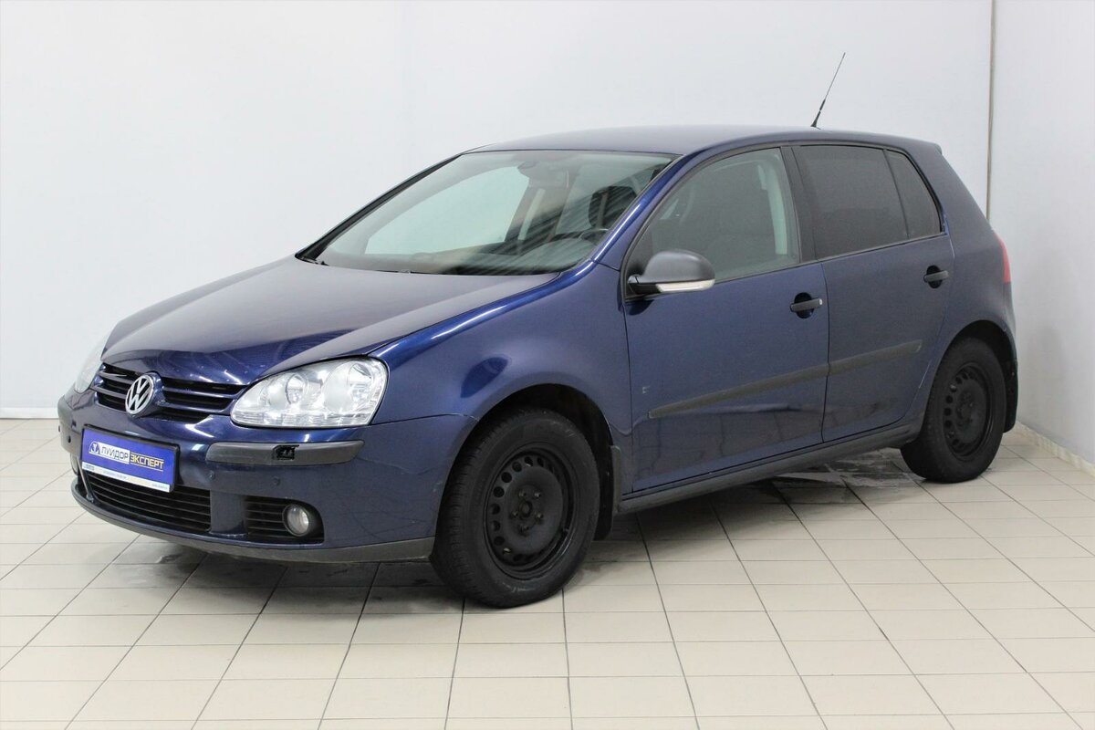 2008 Volkswagen Golf V, синий, 369000 рублей