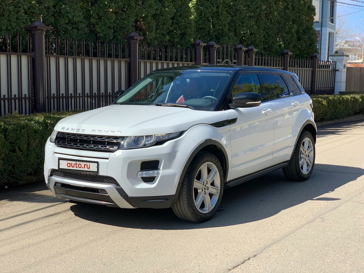 2012 Land Rover Range Rover Evoque  I 6-speed, белый, 1290000 рублей