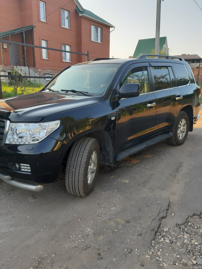 2008 Toyota Land Cruiser  200 Series, чёрный