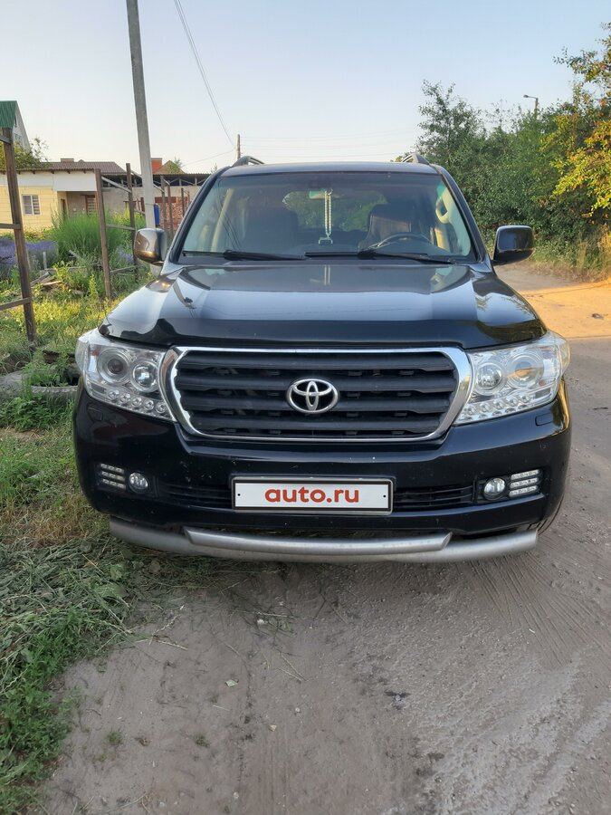 2008 Toyota Land Cruiser  200 Series, чёрный - вид 1