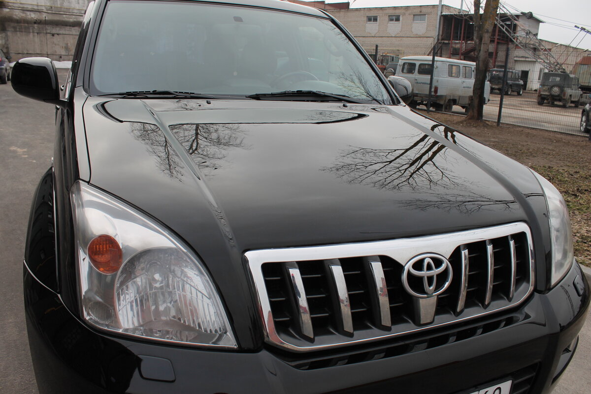 2005 Toyota Land Cruiser Prado  120 Series 5-speed, чёрный - вид 4