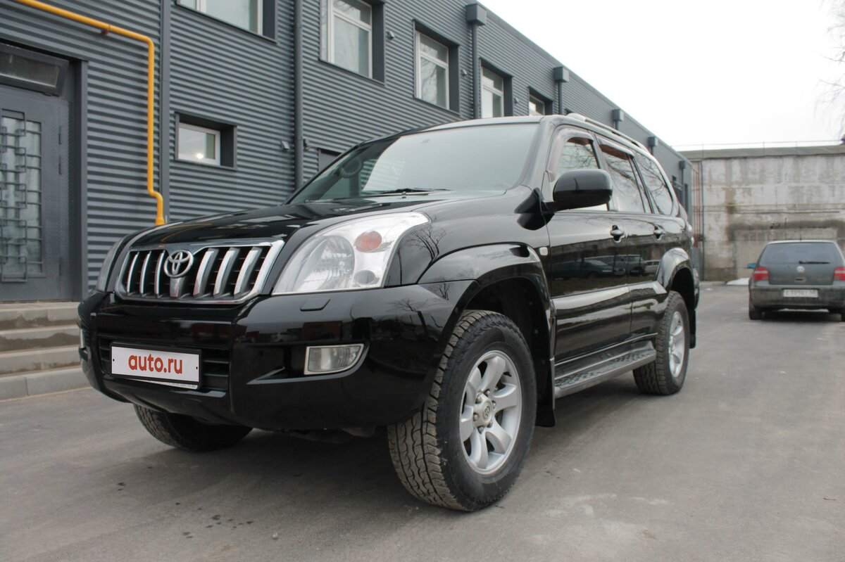2005 Toyota Land Cruiser Prado  120 Series 5-speed, чёрный - вид 7