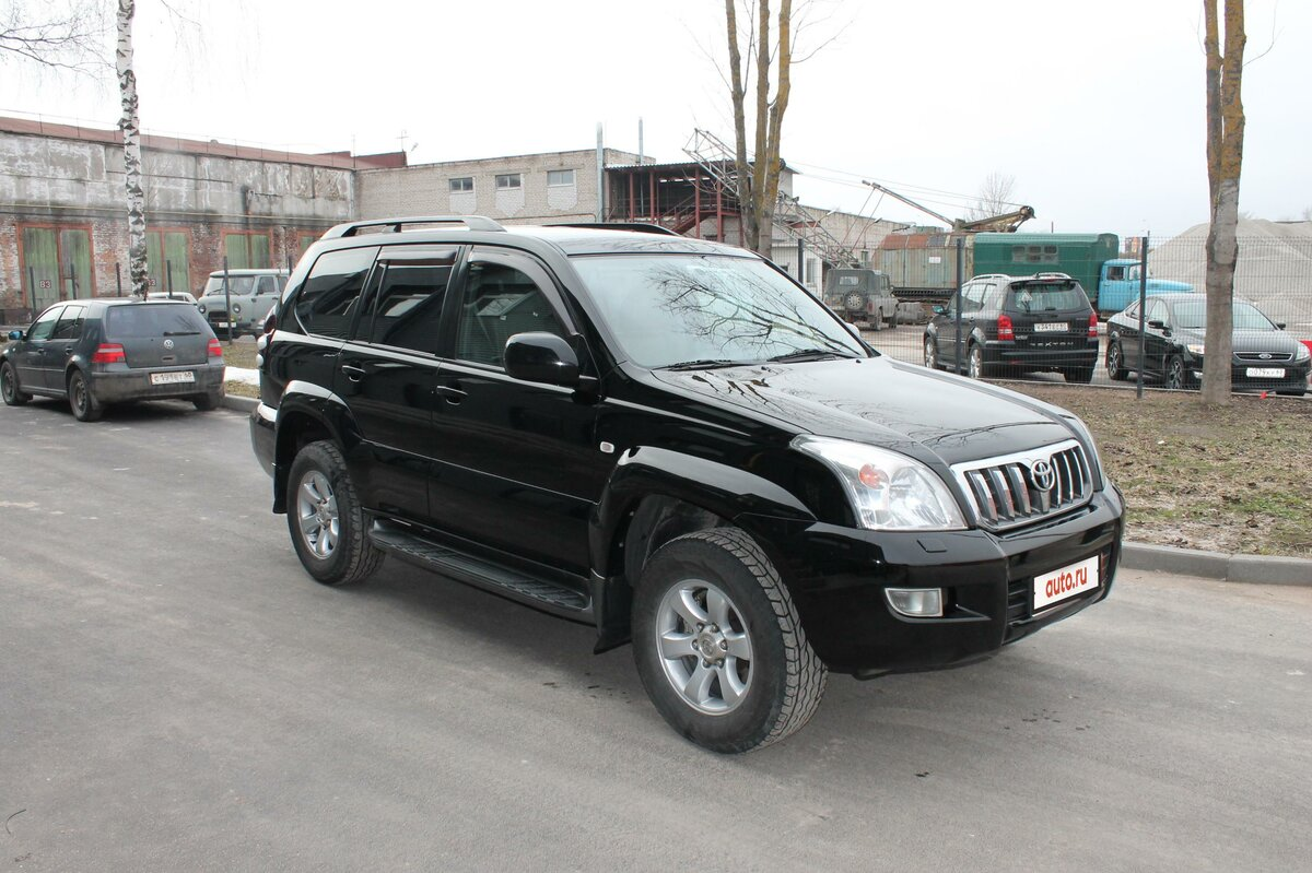 2005 Toyota Land Cruiser Prado  120 Series 5-speed, чёрный - вид 2