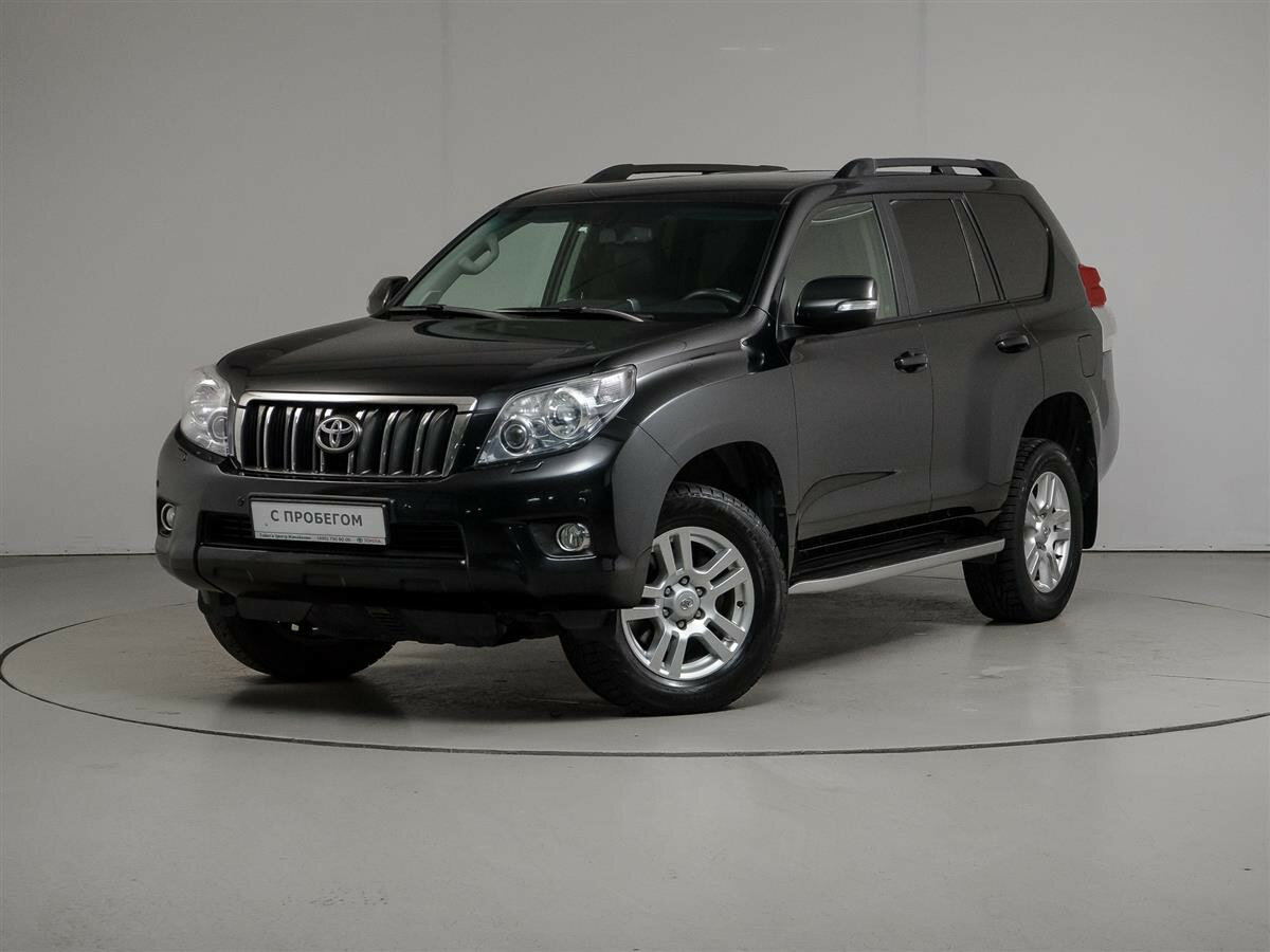 2012 Toyota Land Cruiser Prado  150 Series, чёрный