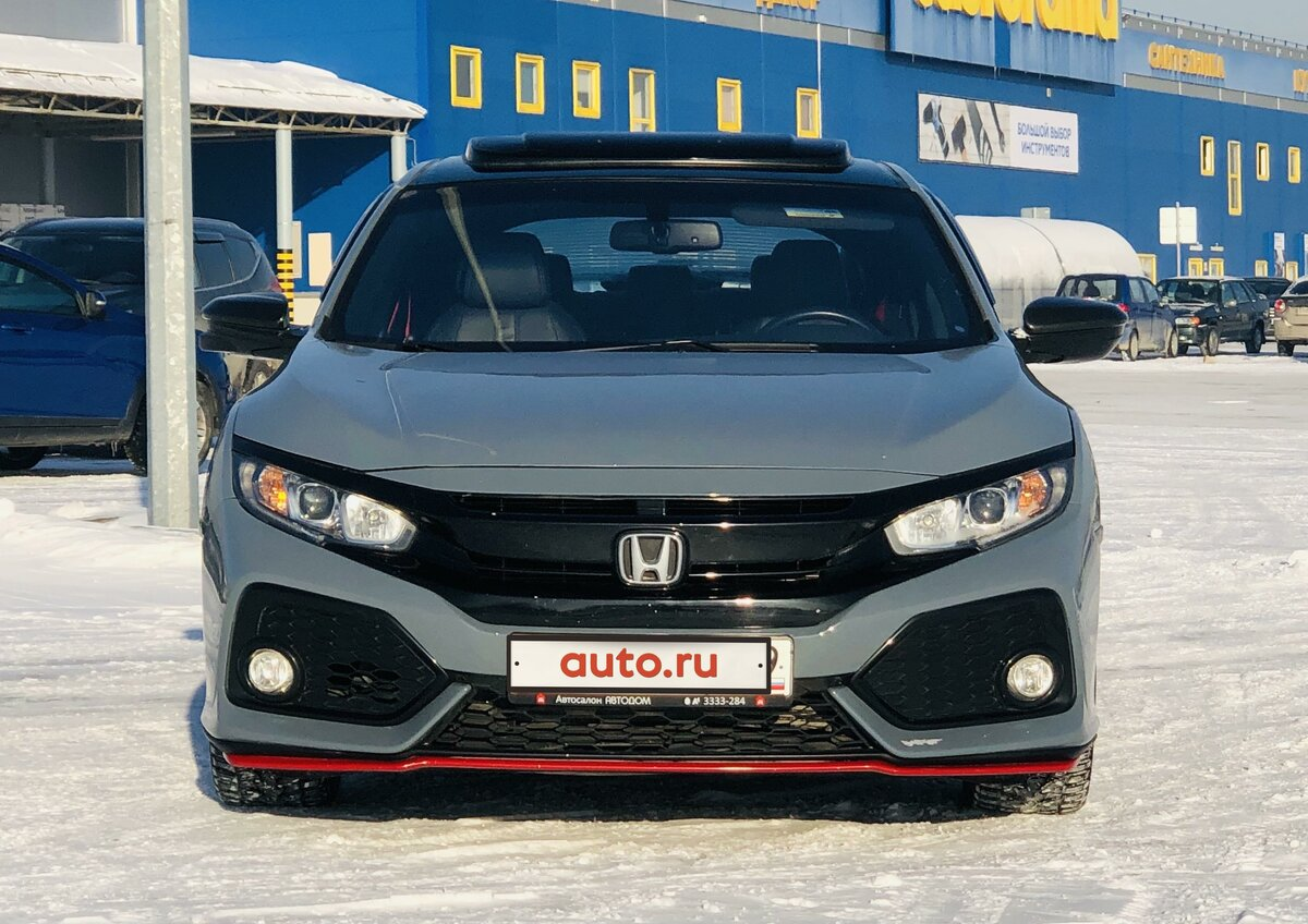 2016 Honda Civic  X, синий - вид 3