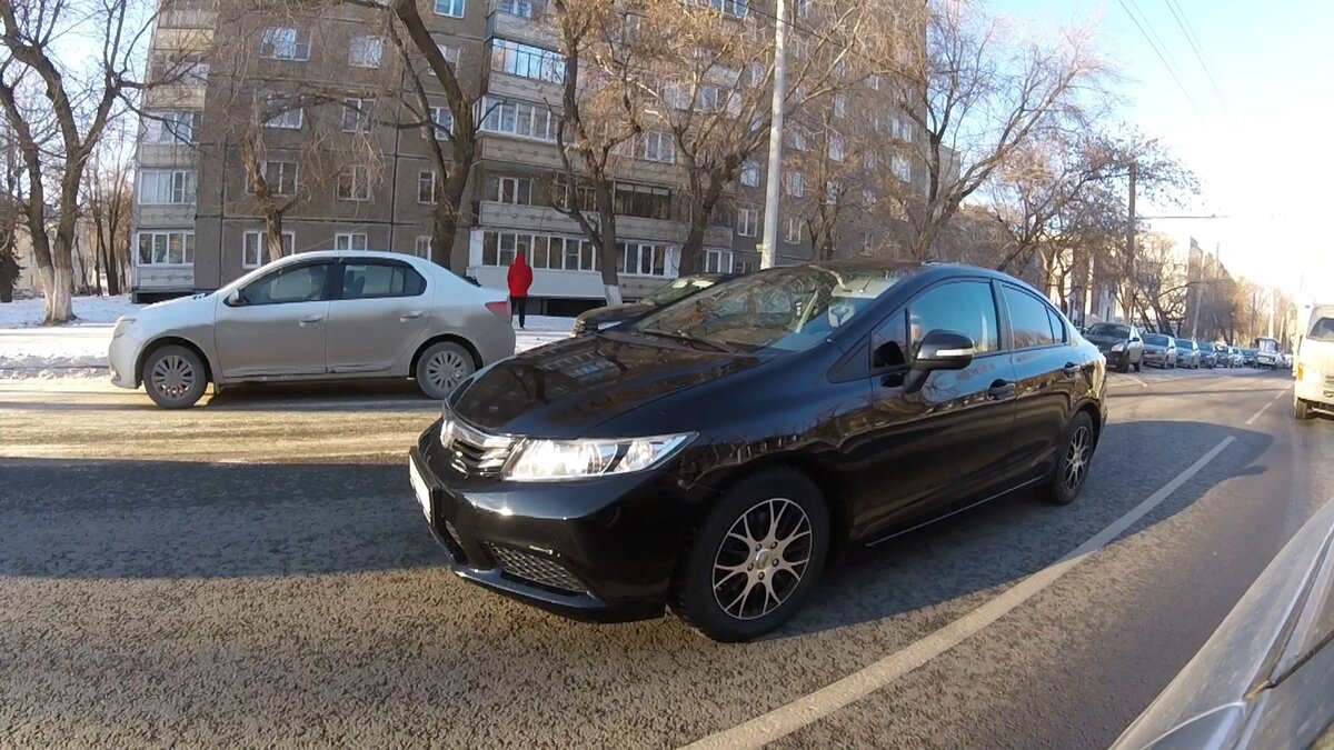 2012 Honda Civic  IX, чёрный
