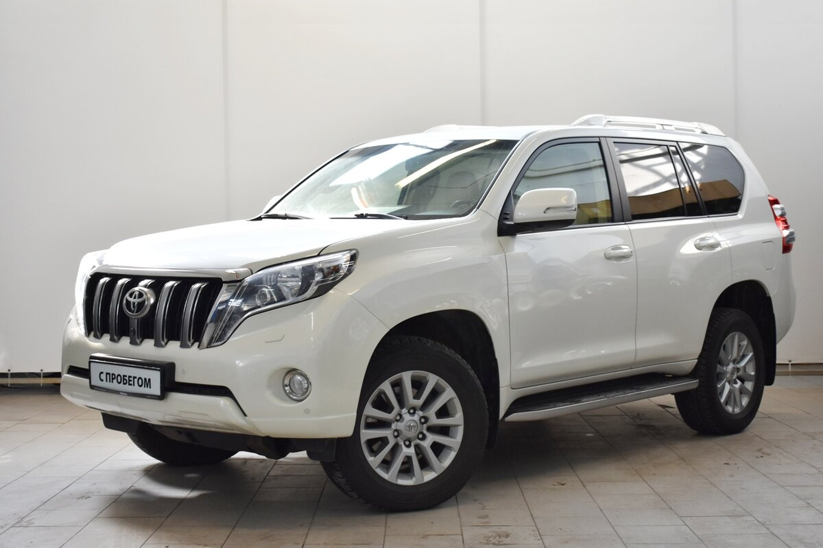 2014 Toyota Land Cruiser Prado  150 Series Рестайлинг 1, белый