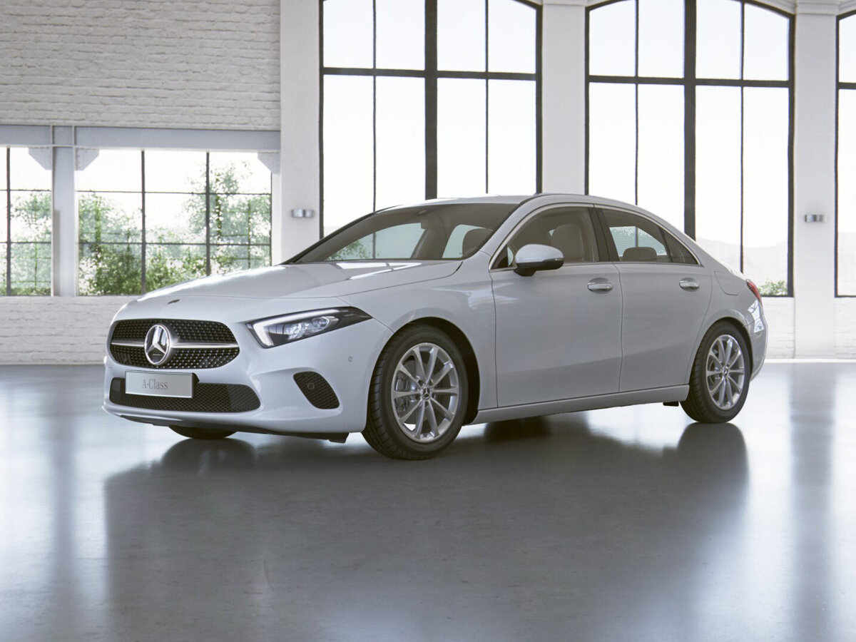 2021 Mercedes-Benz A-Класс  IV (W177) 200, белый