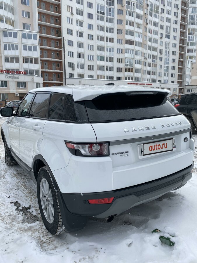 2012 Land Rover Range Rover Evoque  I 6-speed, белый - вид 9